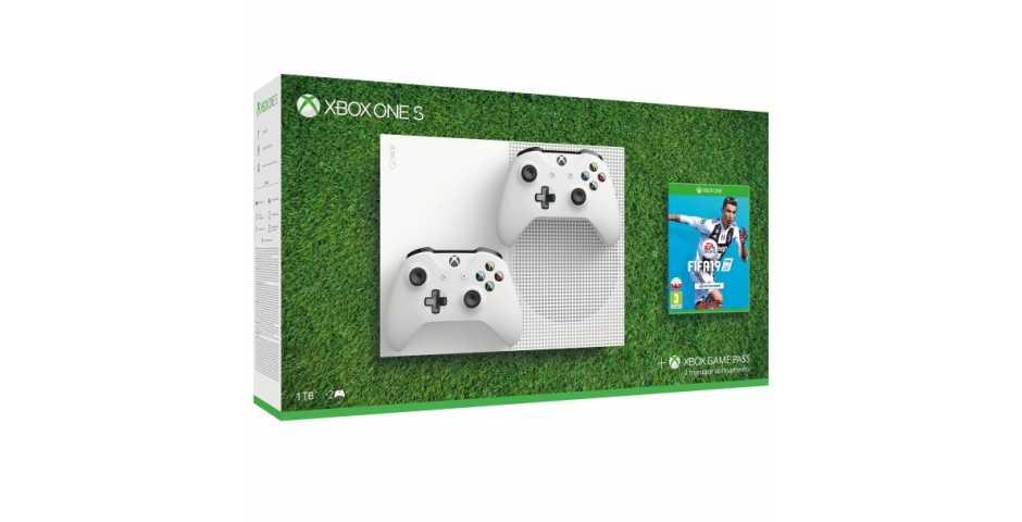 Microsoft Xbox One S 1TB + Fifa 19 + Второй геймпад