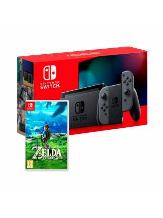 Комплект Nintendo Switch 2019 (серый) + The Legend of Zelda: Breath of the Wild