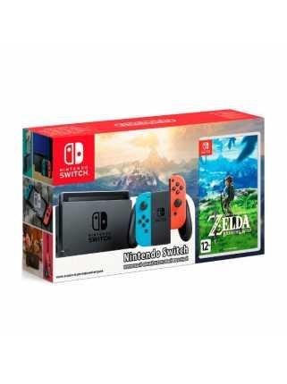 Комплект Nintendo Switch (неоновый красный/неоновый синий) + The Legend of Zelda: Breath of the Wild