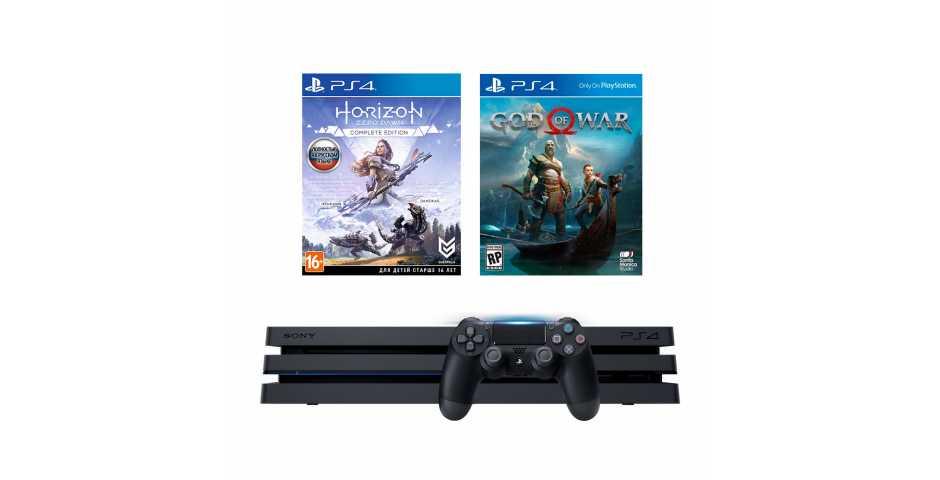 Sony PlayStation 4 Pro 1TB + Horizon: Zero Dawn Complete Edition + God of War