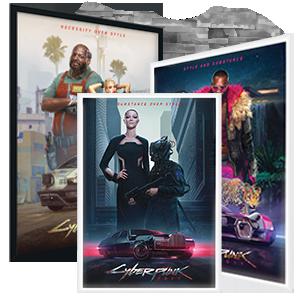Постеры Cyberpunk 2077