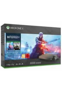 Xbox One X Gold Rush Special Edition Battlefield 5 + BF1943