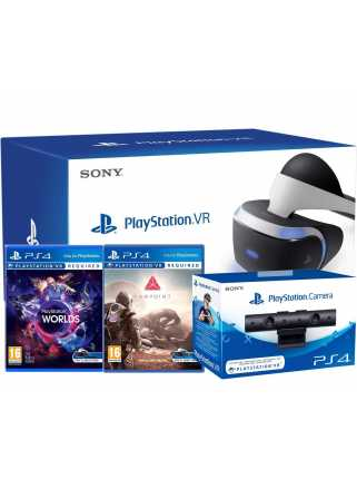 Sony PlayStation VR + VR Worlds + Farpoint + PS Camera v2