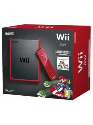 Nintendo Wii Mini Rus Red + Wii Remote Plus + Wii Nunchuk + Mario Kart (Красного цвета)