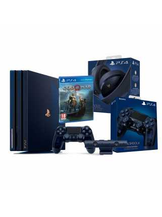 PlayStation 4 Pro 2TB 500 Million Limited Edition Bundle (Camera + Dualshock 4 + Gold Headset + God of War)