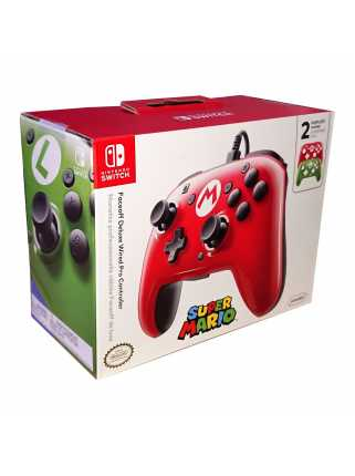 Faceoff Deluxe Wired Pro Controller - Mario
