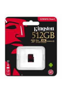 Карта памяти Kingston Canvas React microSDXC [512GB]