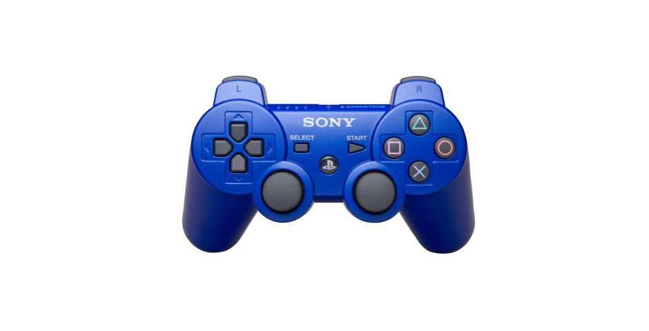 Беспроводной контроллер DualShock 3 Синий  (Уцененный)