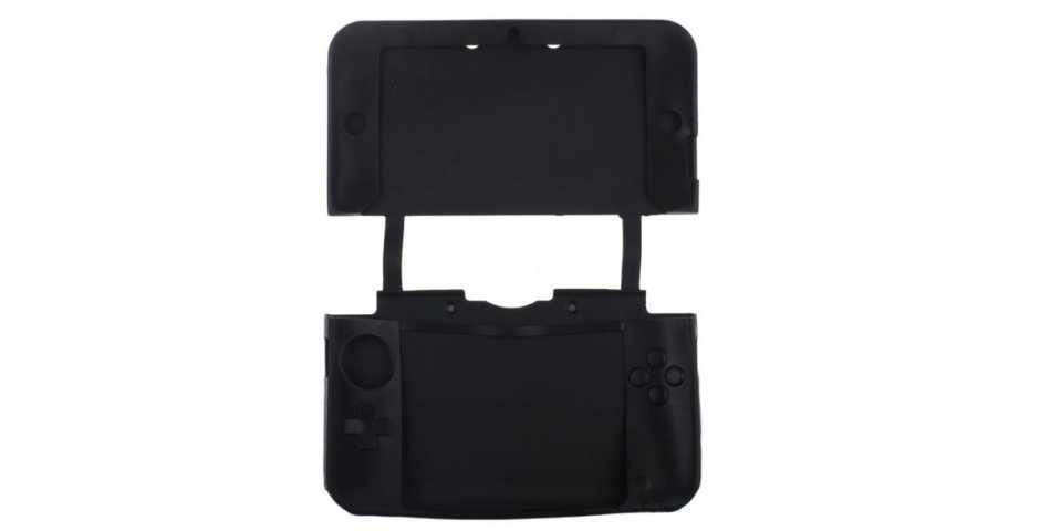 Силиконовый чехол (Nintendo New 3DS) (Black, Blue, Red)