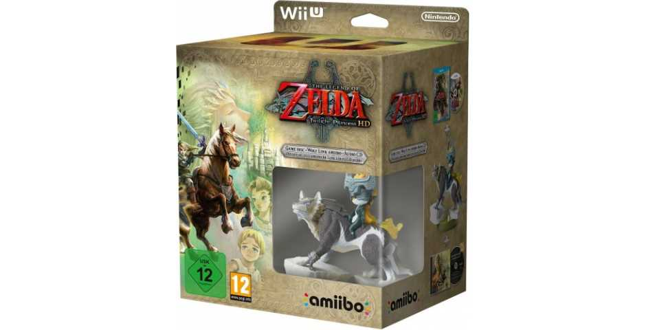 Комплект игра The Legend of Zelda: Twilight Princess HD + Amiibo: Wolf Link [Wii U]