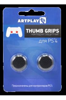 Накладки Artplays Thumb Grips на стики геймпада (Черные) [PS4]