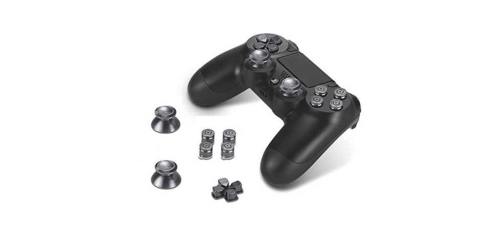 Стики цветные черные (металл) 7 в 1 [PS4]