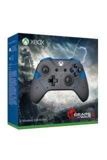 Геймпад Xbox One, в раскраске Gears of War 4 (синий)