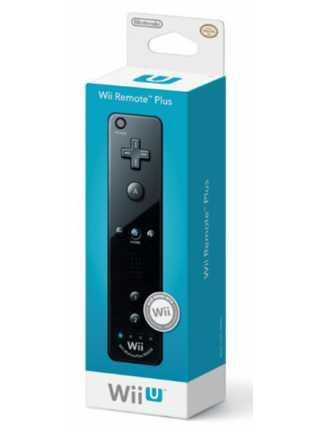 Контроллер Remote Plus чёрный (со встроенным Wii Motion)