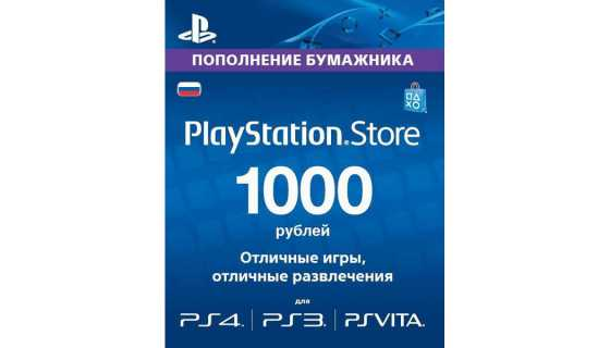 Playstation Live Card 1000 рублей