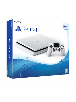 Sony PlayStation 4 Slim (500ГБ), Glacier White