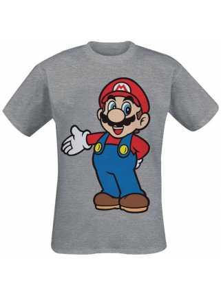 Футболка мужская «Супер Марио» (серая)