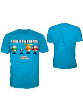 Футболка мужская «Power Mushroom» (синяя)