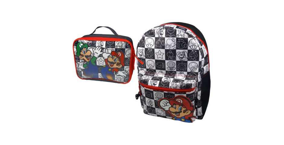 4cf22b5c57f5 Купить Рюкзак «Марио и Луиджи» (черный, белый, красный) и Сумка для ...