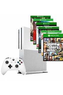Xbox One S 500GB + 6 игр