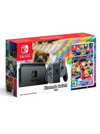Nintendo Switch (серый) + Mario Kart 8 Deluxe