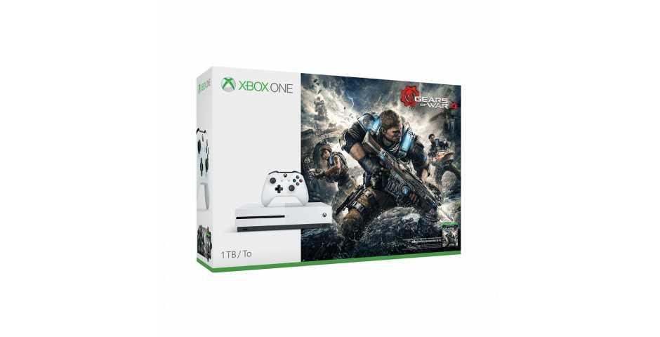 Xbox One S 1TB+Gears of War 4+подписка Xbox Live на 3 месяца