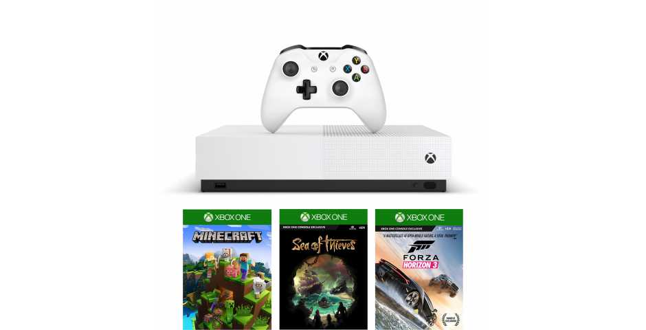 Microsoft Xbox One S 1TB All-Digital Edition + Minecraft + Sea of Thieves + Forza Horizon 3