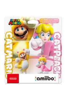 Комплект фигурок amiibo - Марио-кот + Пич-кошка (Cat Mario + Cat Peach, коллекция Super Mario)