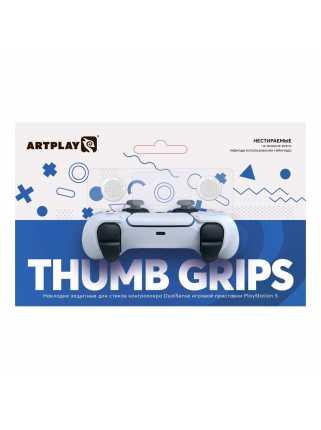 Накладки Artplays Thumb Grips для геймпада DualSense (белые)
