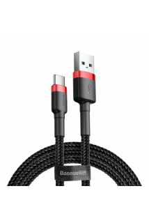 Кабель Baseus Cafule Cable USB для USB Type-C (2A, 3m, red-black)