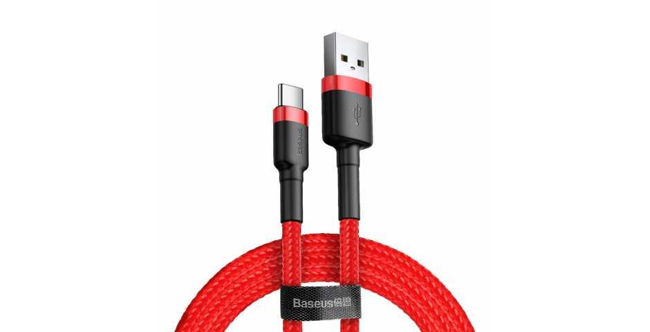Кабель Baseus Cafule Cable USB для USB Type-C (2A, 3m, red-red)
