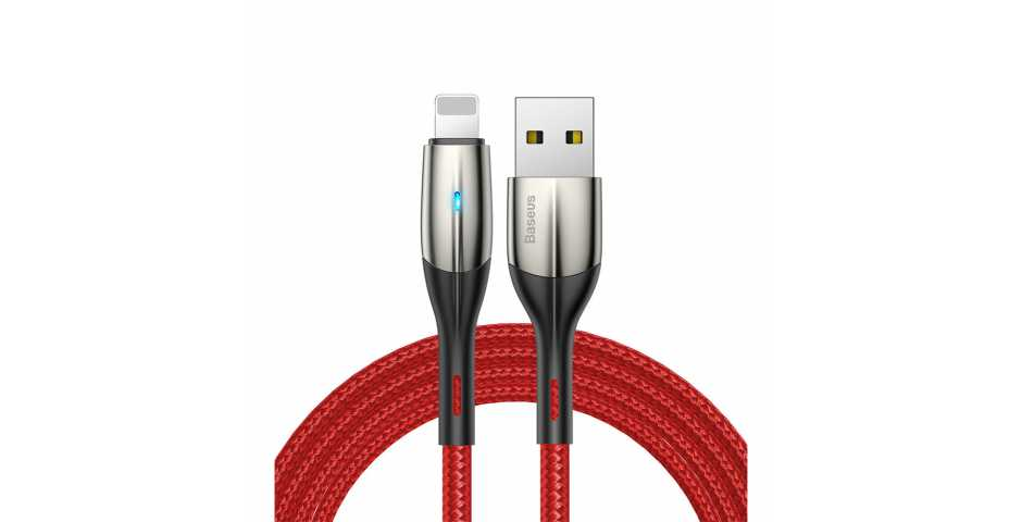 Кабель Baseus Horizontal Data Cable USB для iP (1m, красный)