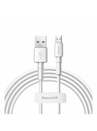 Кабель Baseus Mini White Quick Charge Data Cable USB для MicroUSB