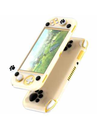 Чехол Baseus SW Lite Cat-Paw Silicone Case (white-black) [Switch Lite]