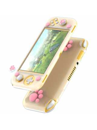 Чехол Baseus SW Lite Cat-Paw Silicone Case (white-pink) [Switch Lite]