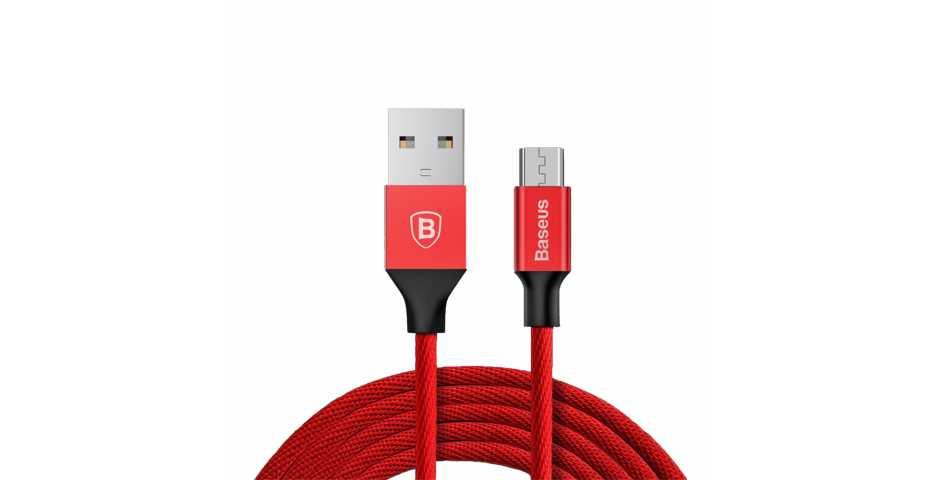 Кабель Baseus Yiven Cable USB для MicroUSB (красный)