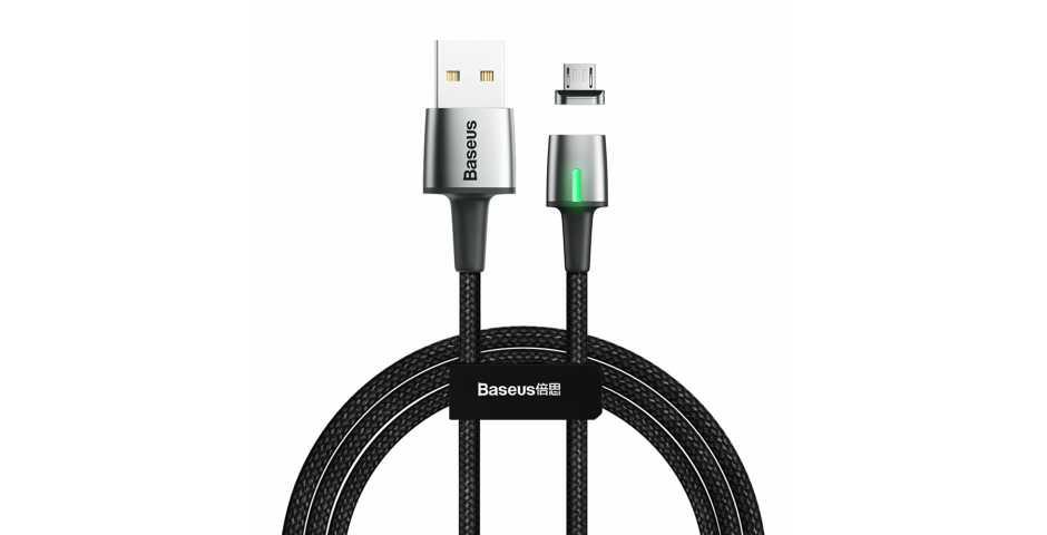 Кабель Baseus Zinc Magnetic Cable USB для MicroUSB (черный)