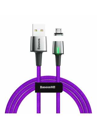 Кабель Baseus Zinc Magnetic Cable USB для MicroUSB (фиолетовый)
