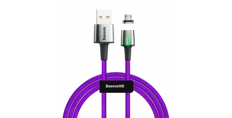 Кабель Baseus Zinc Magnetic Cable USB для MicroUSB (фиолетовый)