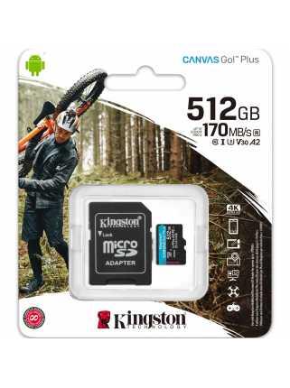 Карта памяти Kingston Canvas Go! Plus microSDXC [512GB]