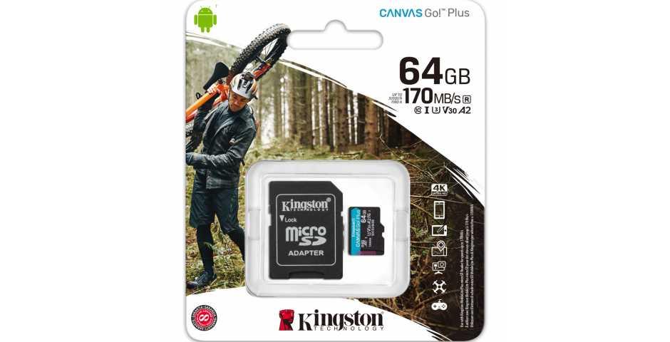 Карта памяти Kingston Canvas Go! Plus microSDXC [64GB]