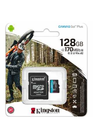 Карта памяти Kingston Canvas Go! Plus microSDXC [128GB]