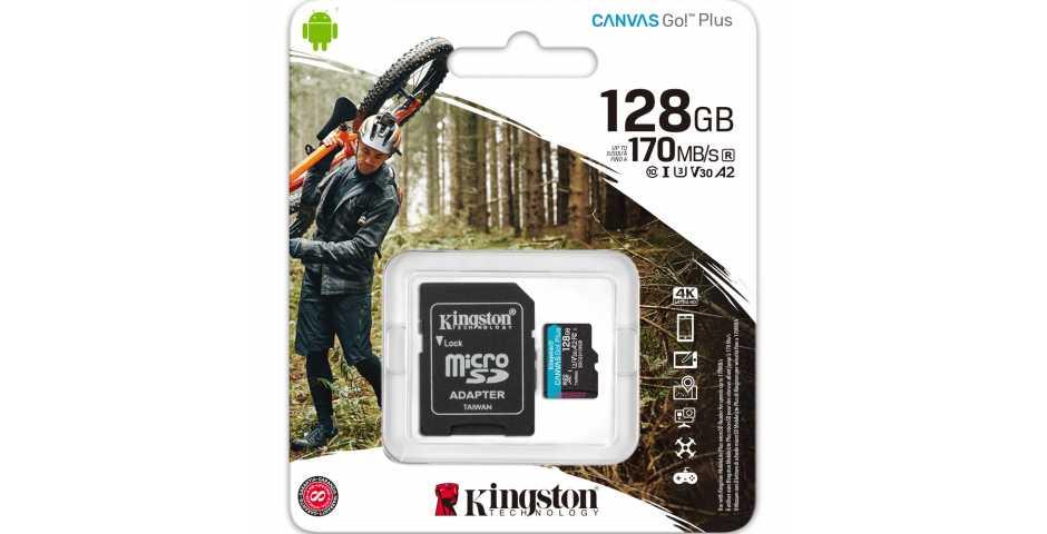 Карта памяти Kingston Canvas Go! Plus microSDXC [128GB]