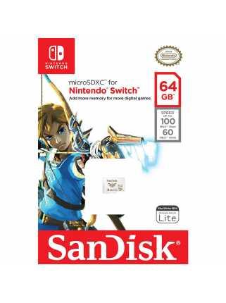 Карта памяти SanDisk microSDXC for Nintendo Switch [64GB]
