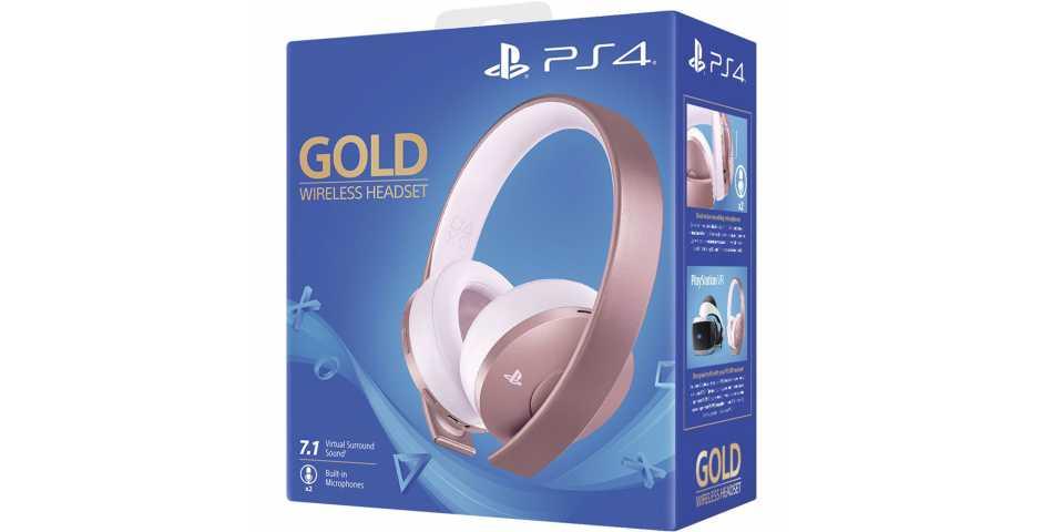 Гарнитура Gold Wireless Headset (Rose Gold)