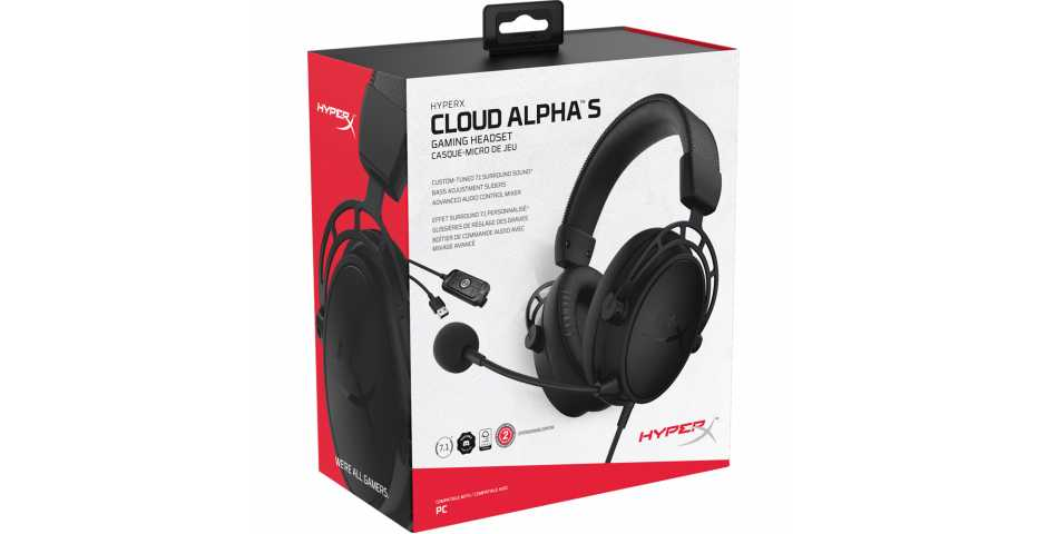 Гарнитура HyperX Cloud Alpha S (Black)