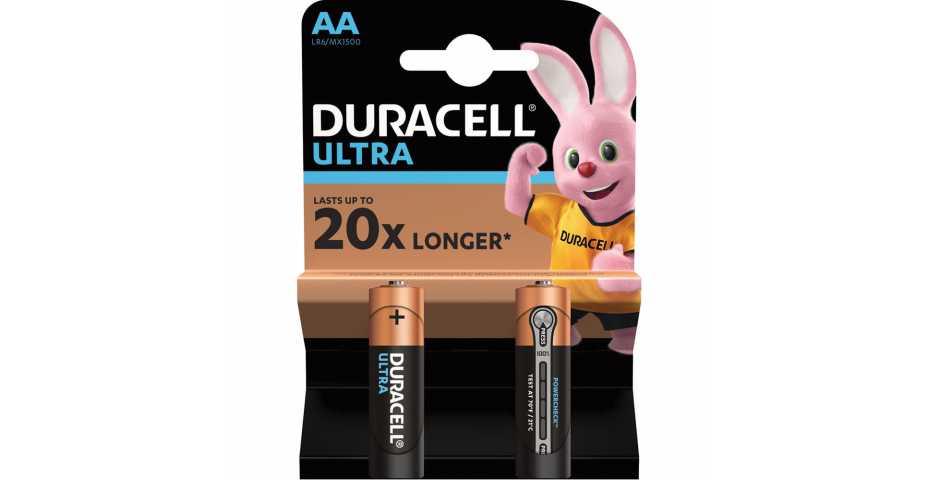 Батарейки Duracell Ultra (AA, 2 шт)