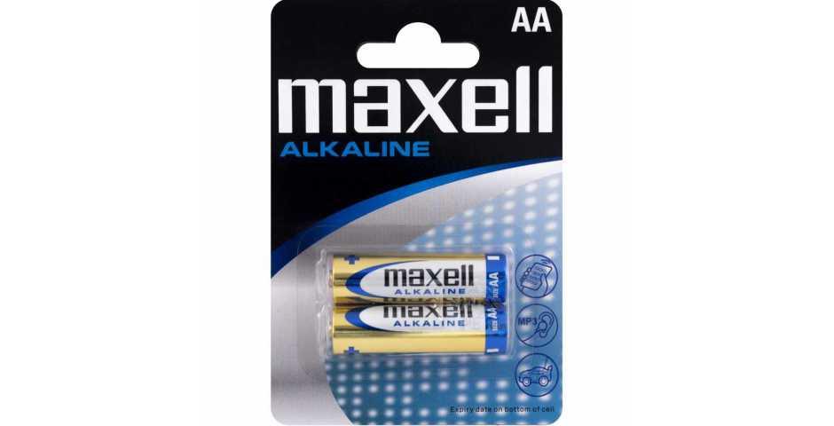 Батарейки Maxell Alkaline (AA, 2 шт)