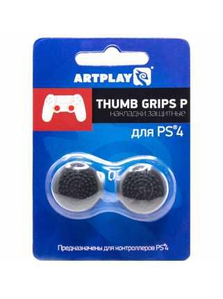 Накладки Artplays Thumb Grips P (черные, высокие, выпуклые) [PS4]