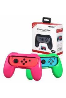 Держатель Dobe Controller Grip (розовый + зеленый) [Switch]